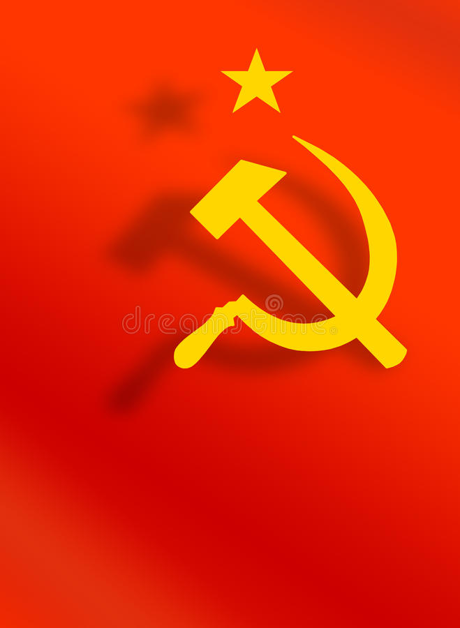De USSR - CCCP symbool, hamer en sikkel vector illustratie