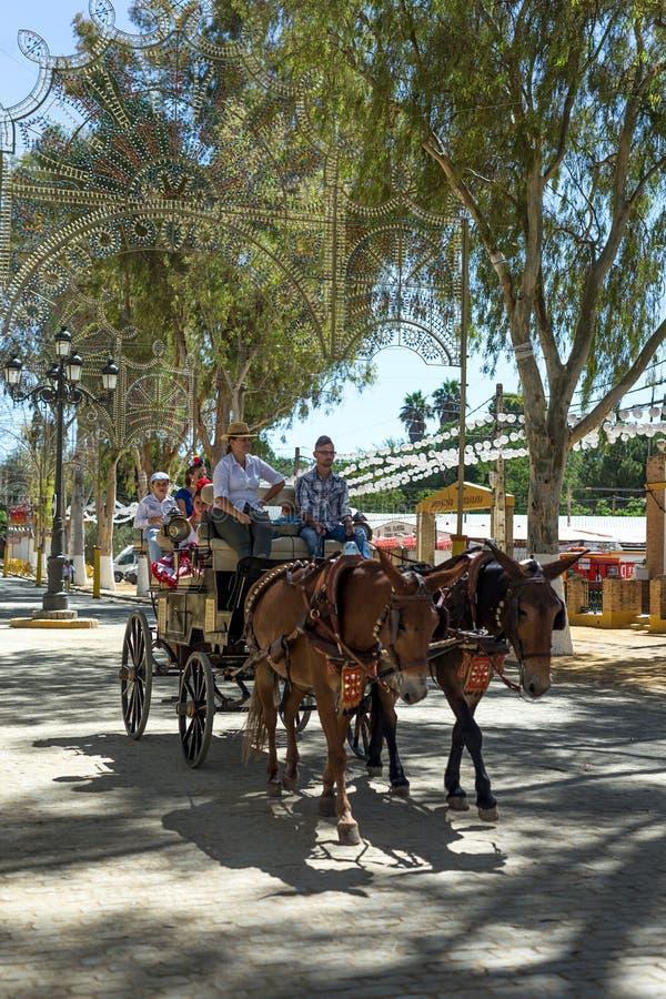De Utrera Markt is een traditioneel festival van de stad van Utrera royalty-vrije stock foto