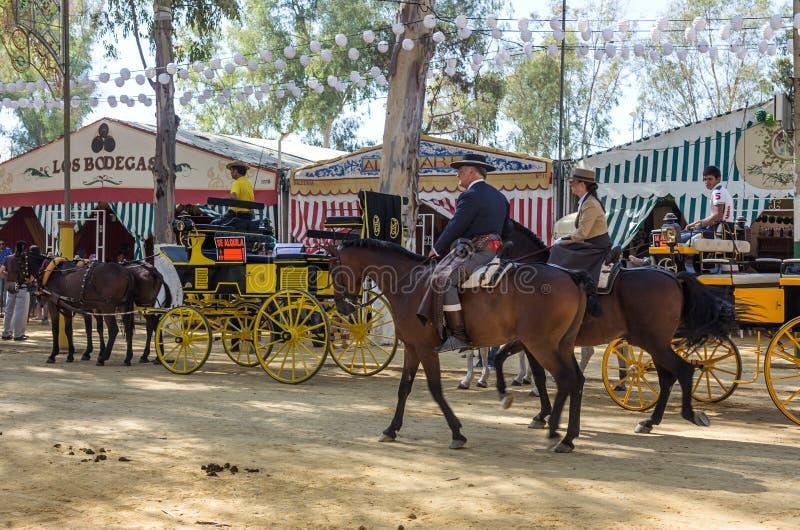 De Utrera Markt is een traditioneel festival van de stad van Utrera stock afbeelding