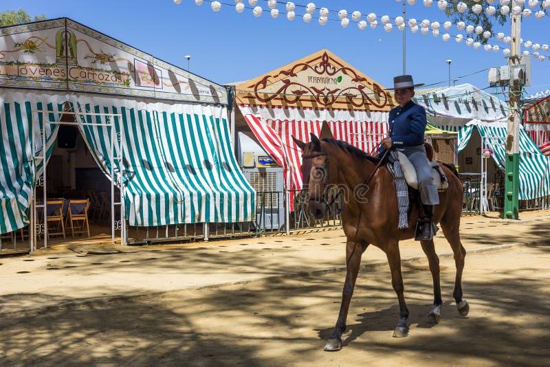 De Utrera Markt is een traditioneel festival van de stad van Utrera stock foto's