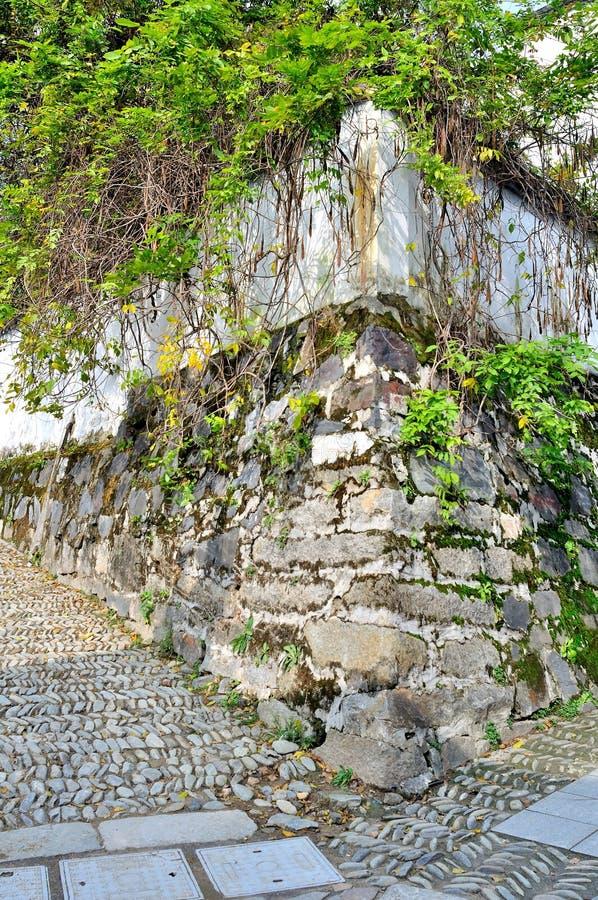 De utvändiga väggarna av det gammalt arkivfoto