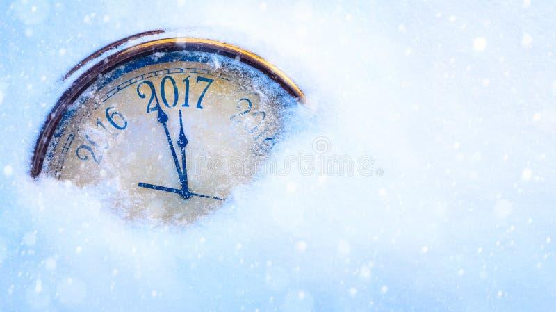 De víspera del arte 2017 Felices Año Nuevo fotografía de archivo