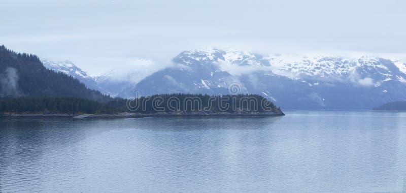 De V.S., Alaska, het Nationale Park van de Gletsjerbaai, Wereldnatuurlijk erfgoed stock foto's