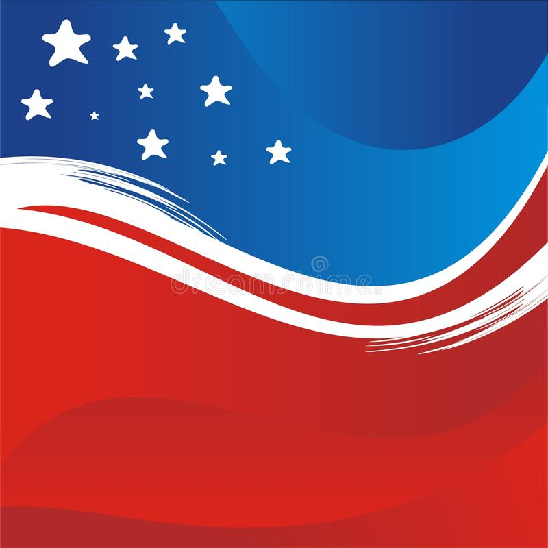 De V.S. - Amerikaanse vlag Vectorachtergrond, nieuw en modern ontwerp stock illustratie