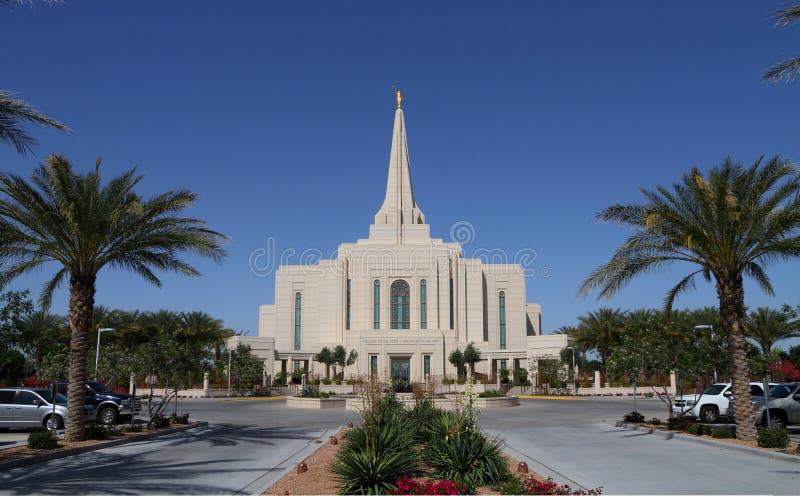 De V.S., Arizona/Gilbert: Nieuwe Mormoonse Tempel (2014) stock afbeeldingen