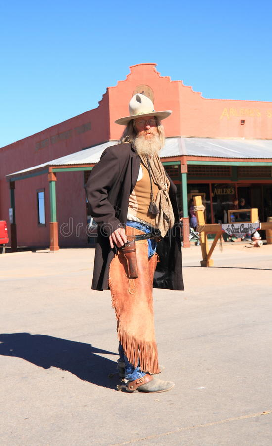 De V.S., AZ/Tombstone: Het oude Westen - Gunfight-Acteur stock foto