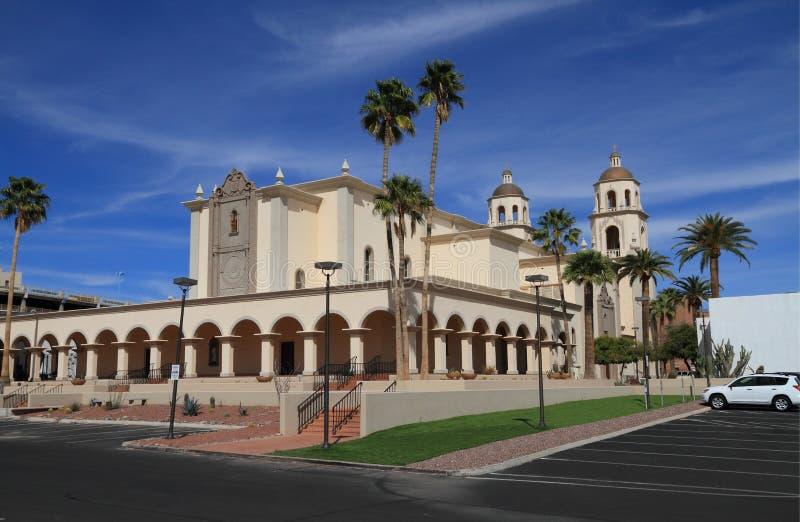 De V.S., AZ/Tucson: Heilige Augustine Cathedral stock foto