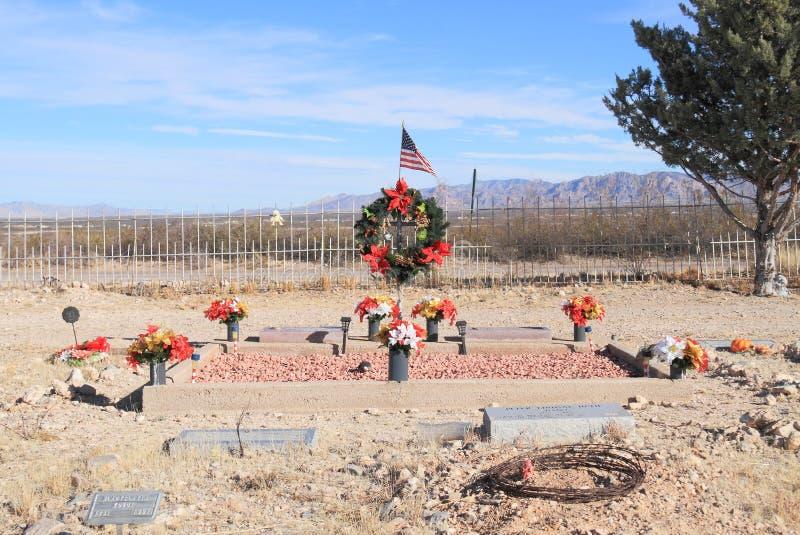 DE V.S., AZ: Woestijnbegraafplaats - Kerstmisgraf  royalty-vrije stock afbeelding