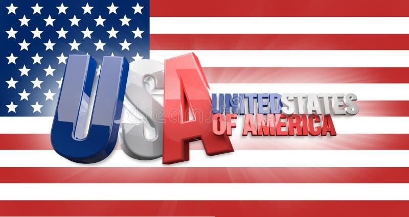 De V.S. 3D de Verenigde Staten van Amerika geven terug stock illustratie