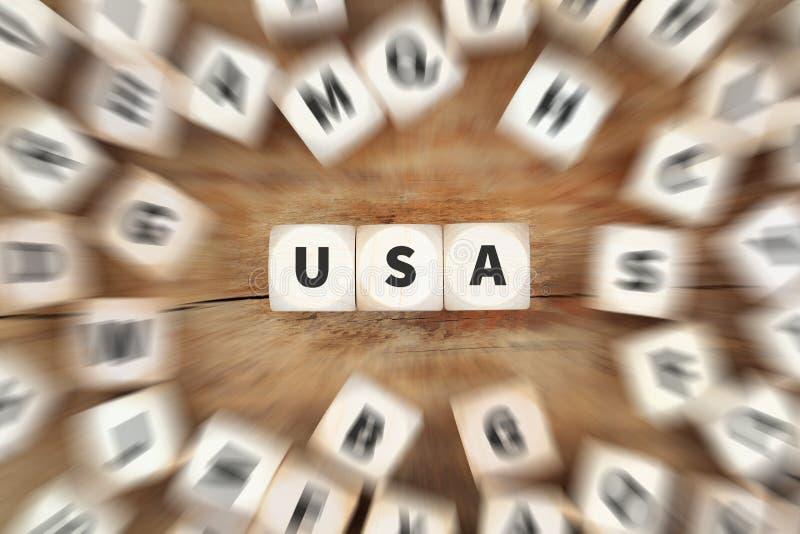 De V.S. de V.S. Verenigde Staten dobbelen bedrijfsconcept royalty-vrije stock afbeelding