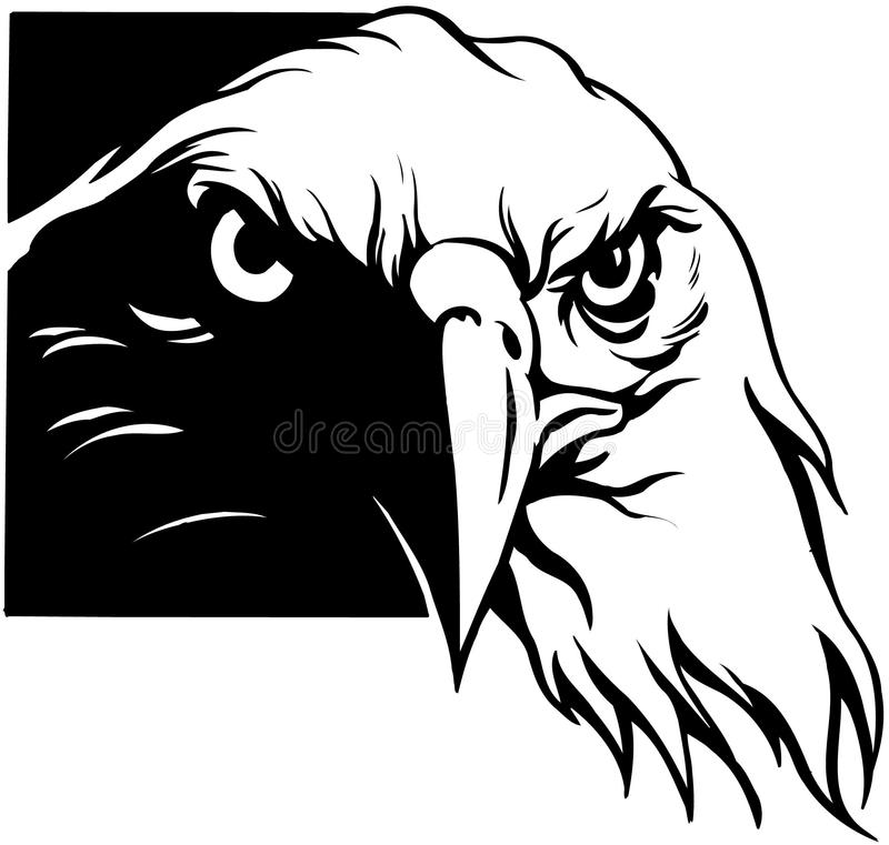 De V.S. Eagle Cartoon Vector Clipart royalty-vrije illustratie