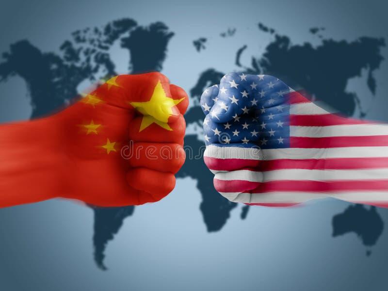 De V.S. - De handelsoorlog van China royalty-vrije stock fotografie