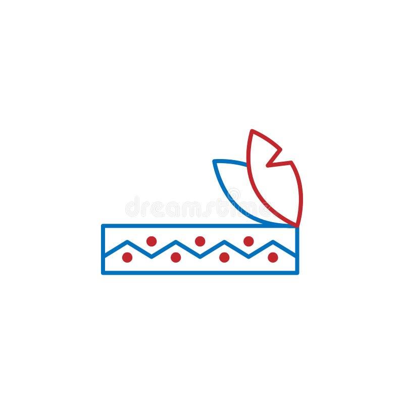 De V.S., hoofddekselpictogram Element van de cultuurpictogram van de V.S. Dun lijnpictogram voor websiteontwerp en ontwikkeling,  royalty-vrije illustratie
