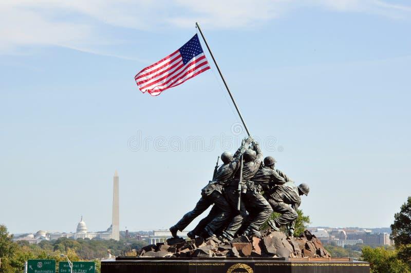 De V.S. Marine Corps War Memorial stock foto's