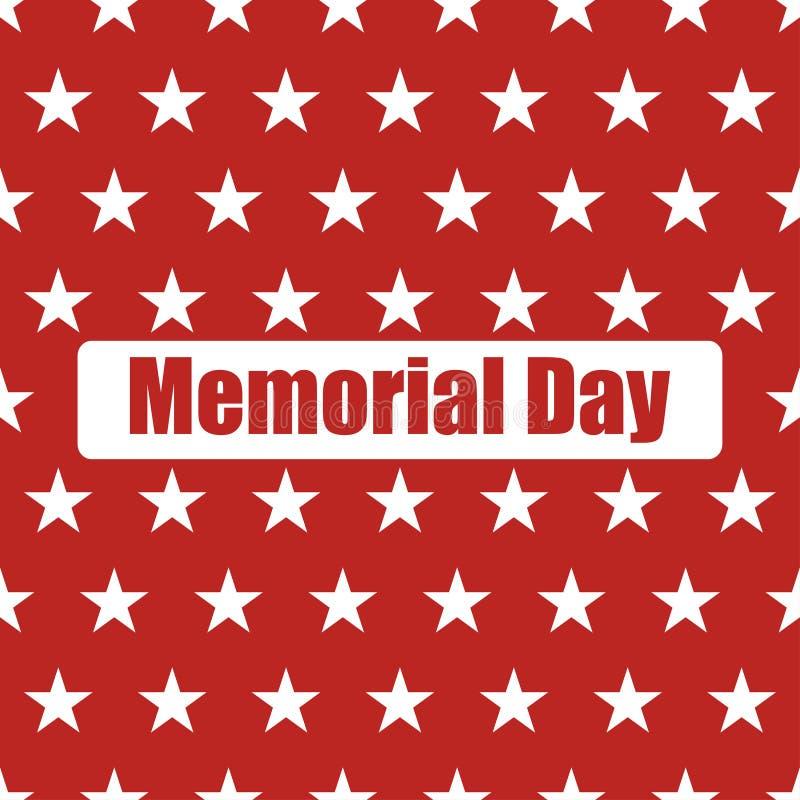 De V.S. markeren naadloos patroon Witte Sterren op een Rode Achtergrond Herdenkings Dag royalty-vrije illustratie