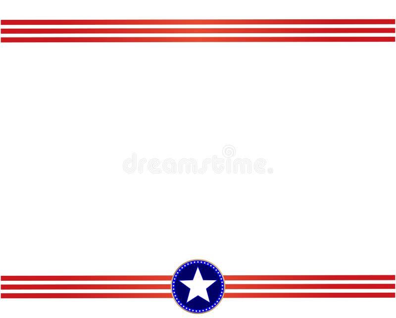 De V.S. markeren rood blauw kader met lege ruimte voor tekst vector illustratie