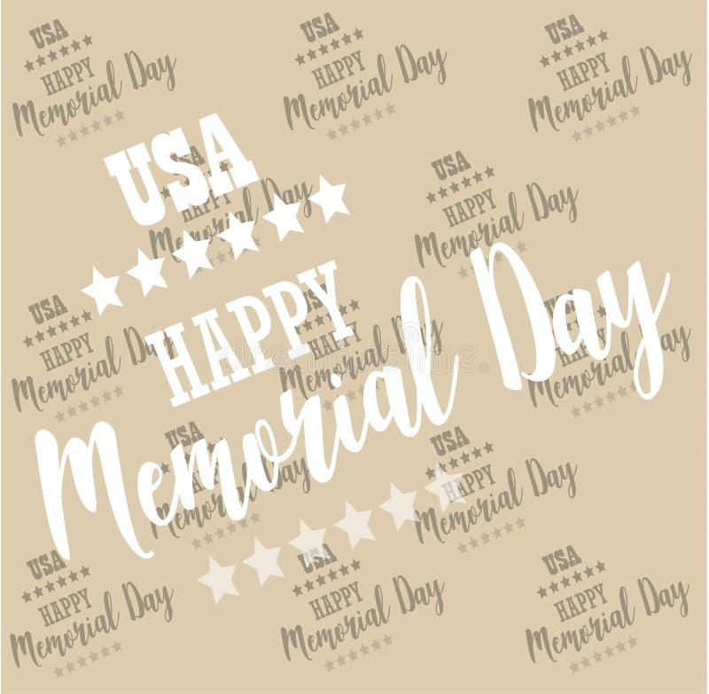 De V.S. Memorial Day Patroon, achtergrondvector royalty-vrije illustratie