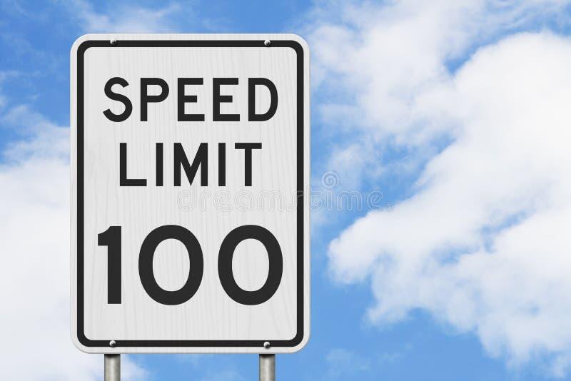 De V.S. 100 MPU-Maximum snelheidteken stock foto's