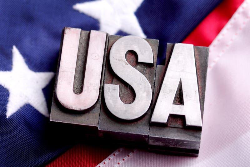 De V.S. op vlag stock fotografie