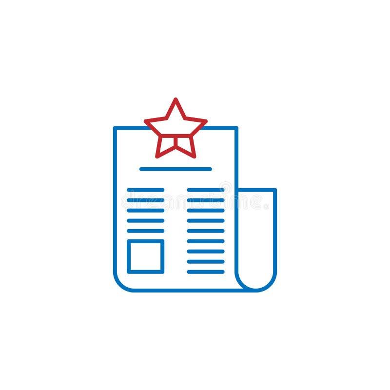 De V.S., politiek pictogram Element van de cultuurpictogram van de V.S. Dun lijnpictogram voor websiteontwerp en ontwikkeling, ap vector illustratie