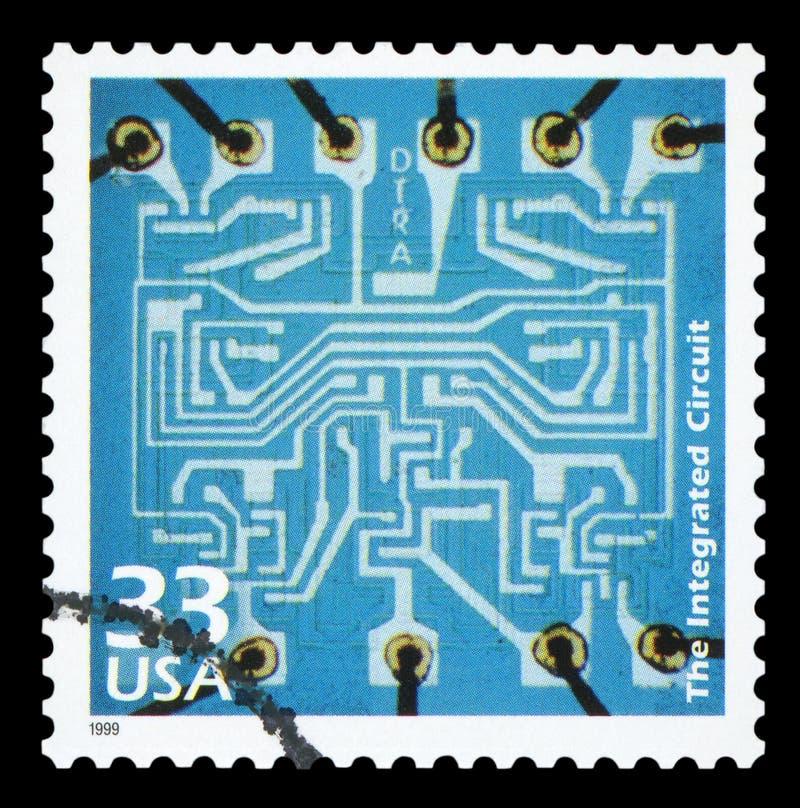 De V.S. - Postzegel royalty-vrije stock foto's