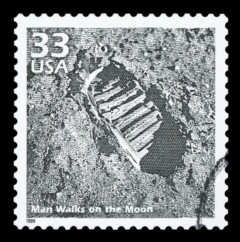 De V.S. - Postzegel royalty-vrije stock afbeeldingen