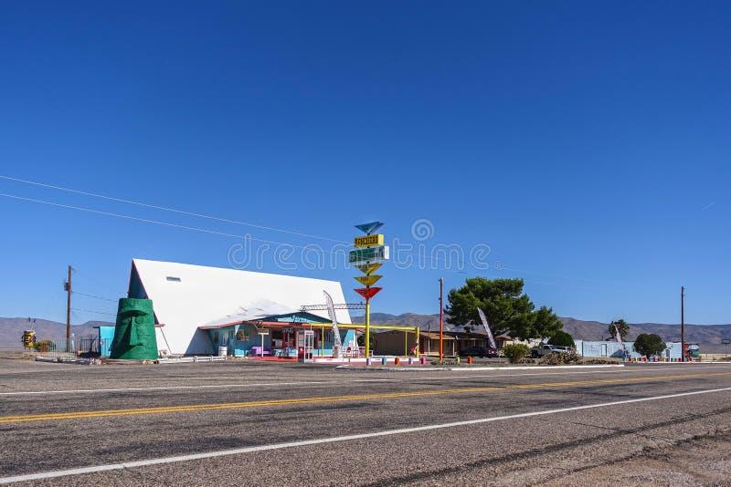 De V.S. 4233-16 Route 66, Ranchero-Motel royalty-vrije stock foto
