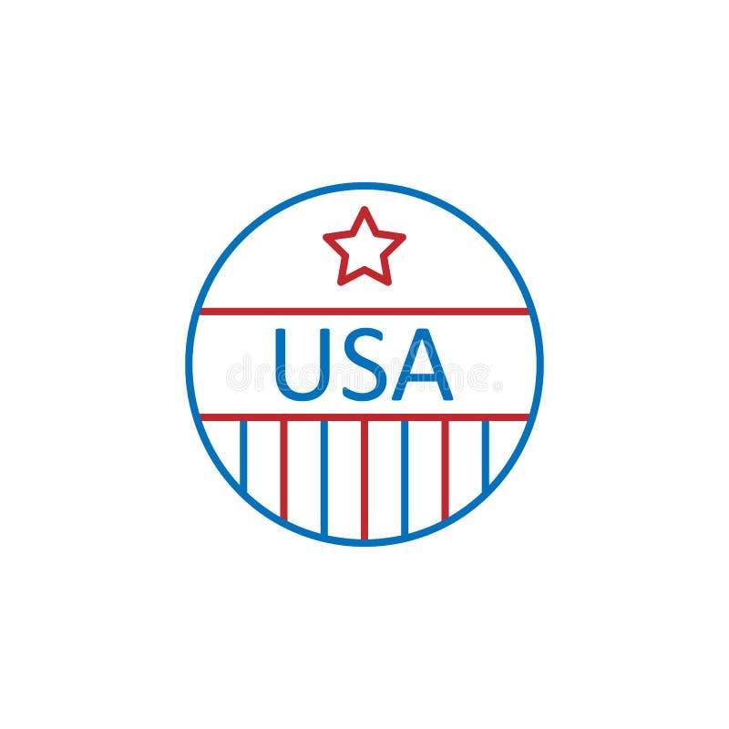 De V.S., speldpictogram Element van de cultuurpictogram van de V.S. Dun lijnpictogram voor websiteontwerp en ontwikkeling, app on royalty-vrije illustratie