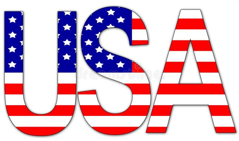 Download De V.S. - tekst stock illustratie. Illustratie bestaande uit verenigd - 41824