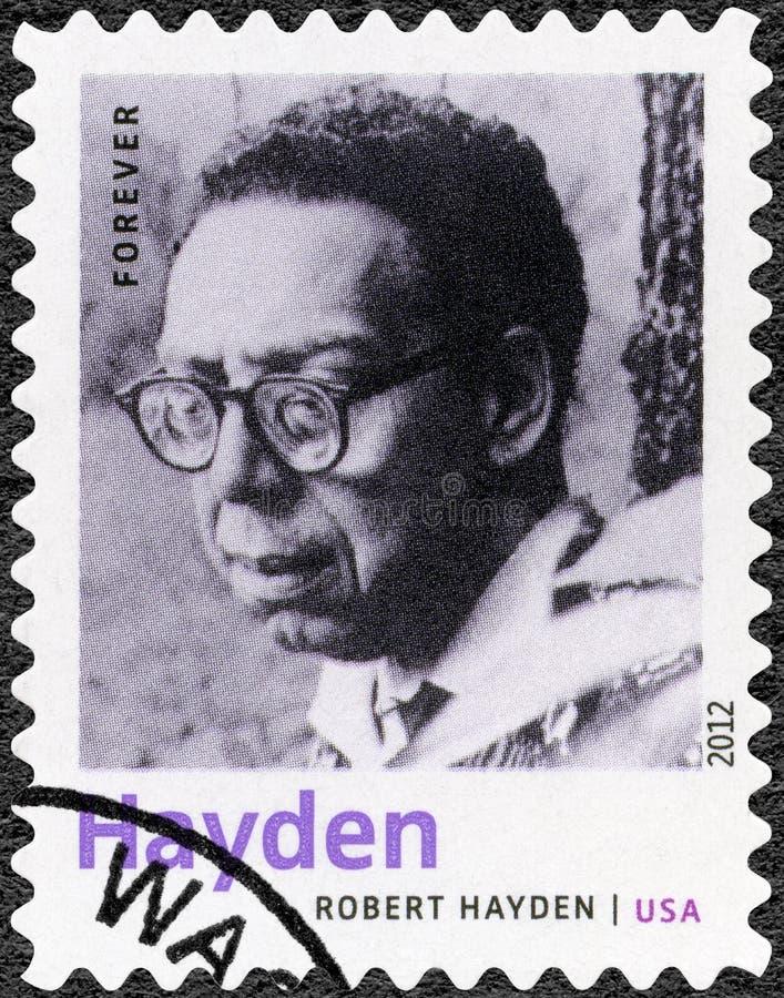 De V.S. - 2012: toont Robert Hayden 1913-1980, Amerikaanse dichter, essayist en opvoeder, de Laureaat van reeksnobel in Literatuu royalty-vrije stock foto's