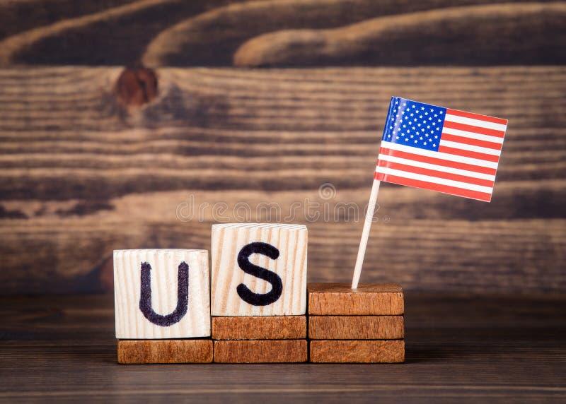 De V.S. Verenigde Staten Politiek, economische en immigratieconcept royalty-vrije stock afbeelding