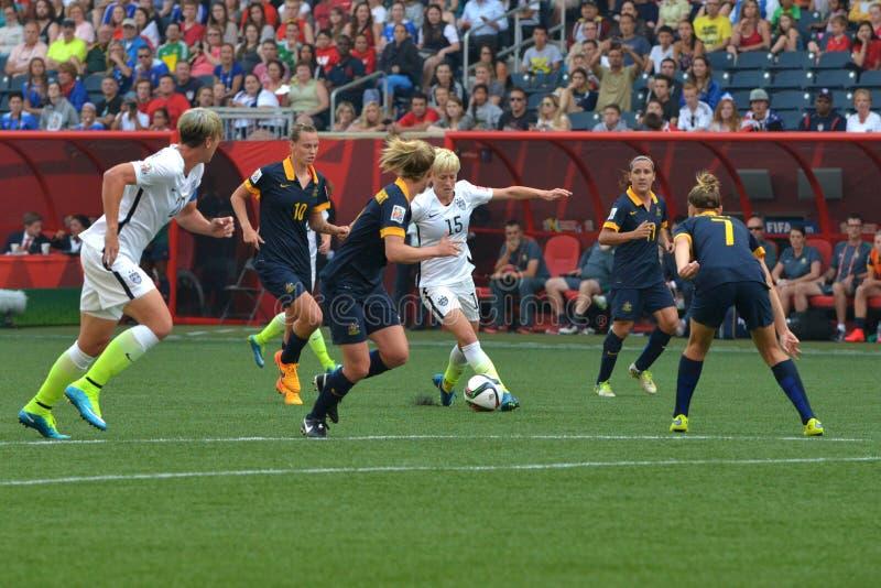 De V.S. versus de nationale teams van Australië De Wereldbeker van FIFA Women's royalty-vrije stock foto's