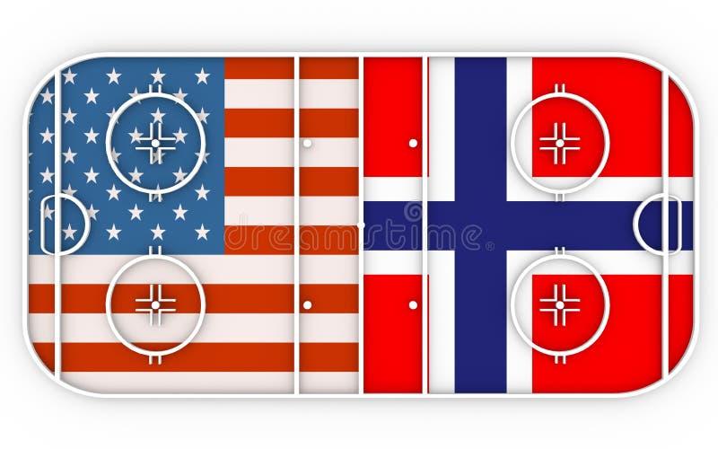 De V.S. versus Noorwegen royalty-vrije illustratie
