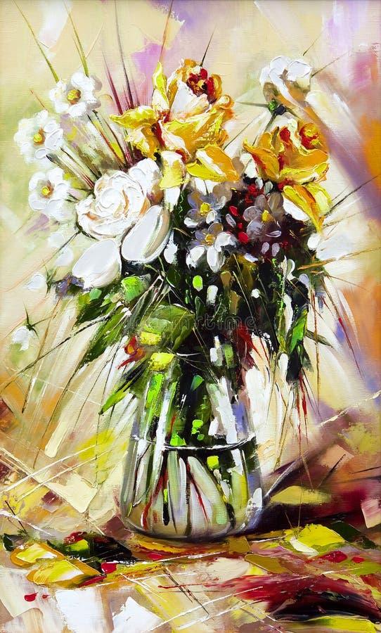 De vaas met de bloemen vector illustratie
