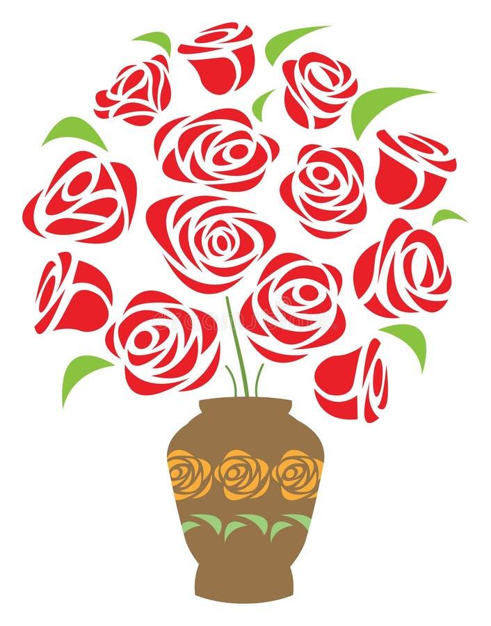 De vaas van de bloem vector illustratie