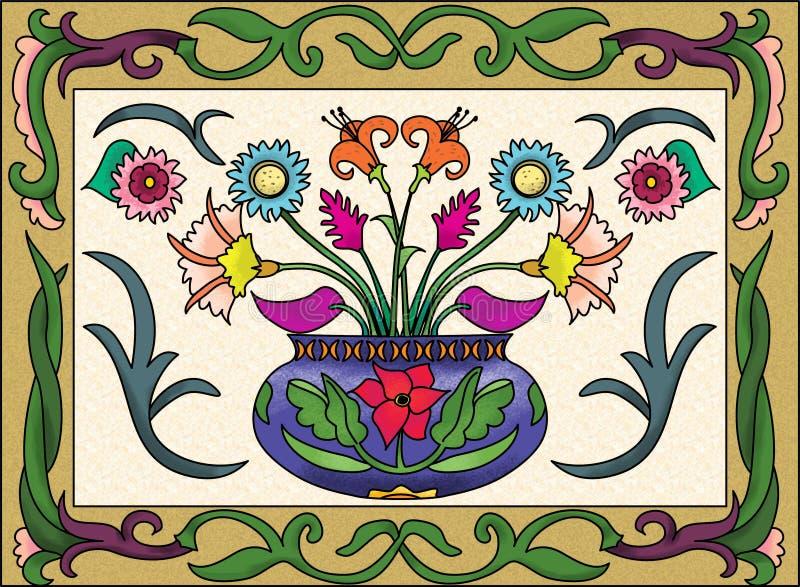 Download De Vaasontwerp Van De Bloem Stock Illustratie - Illustratie bestaande uit schoonheid, listig: 29506473
