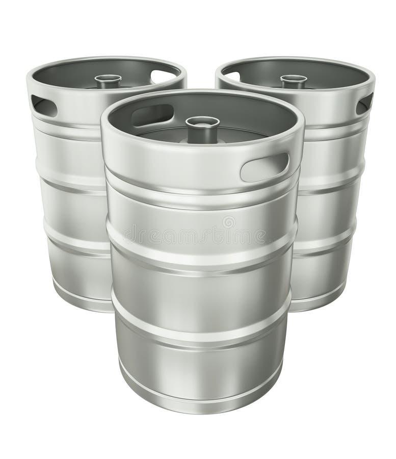 De vaatjes van het bier vector illustratie