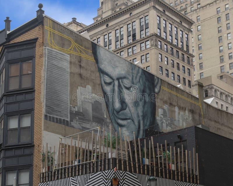 ` De Vader van Modern Philadelphia ` door Gaia, Philadelphia, Pennsylvania stock afbeelding