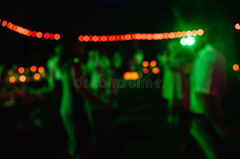 De Vage Achtergrond van de festivalgebeurtenis Partij stock fotografie