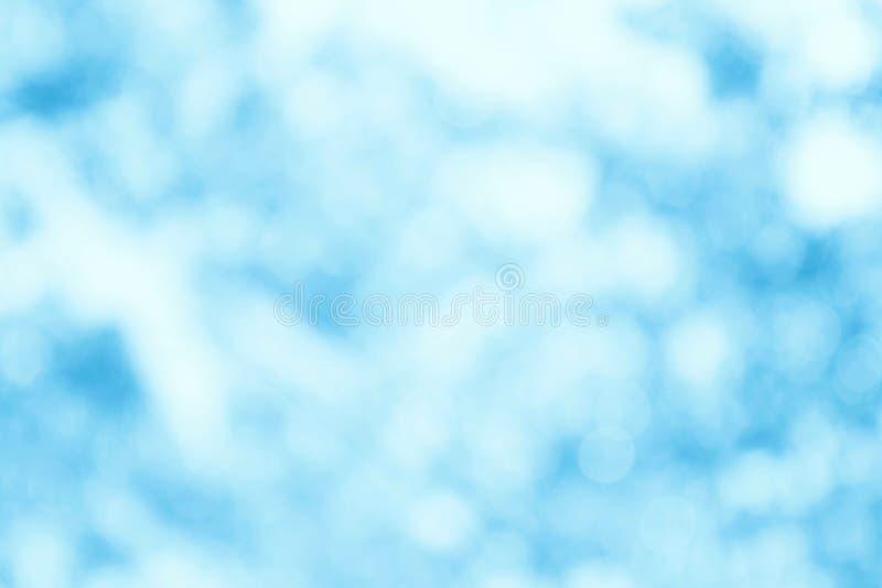 De vage blauwe zachte textuur van de bokehhemel voor achtergrondkatoen stock fotografie