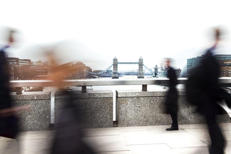 De vage forenzen van Londen royalty-vrije stock afbeeldingen