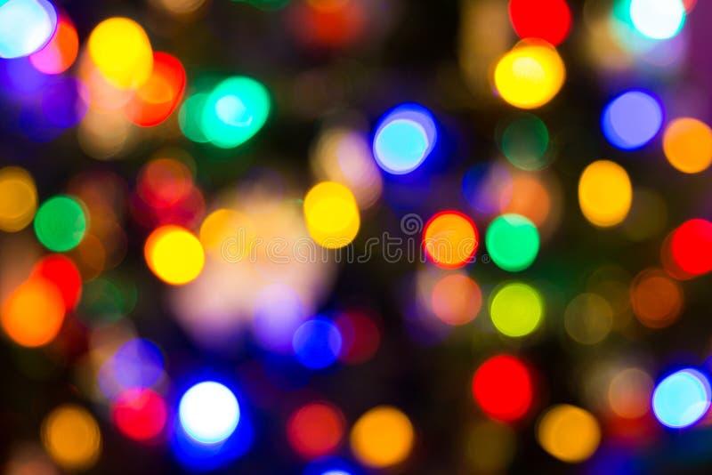 De vage lichten van Kerstmis stock afbeeldingen