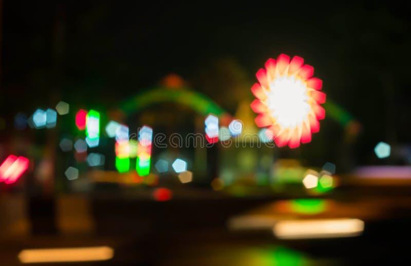 De vage lichten vieren stock afbeeldingen