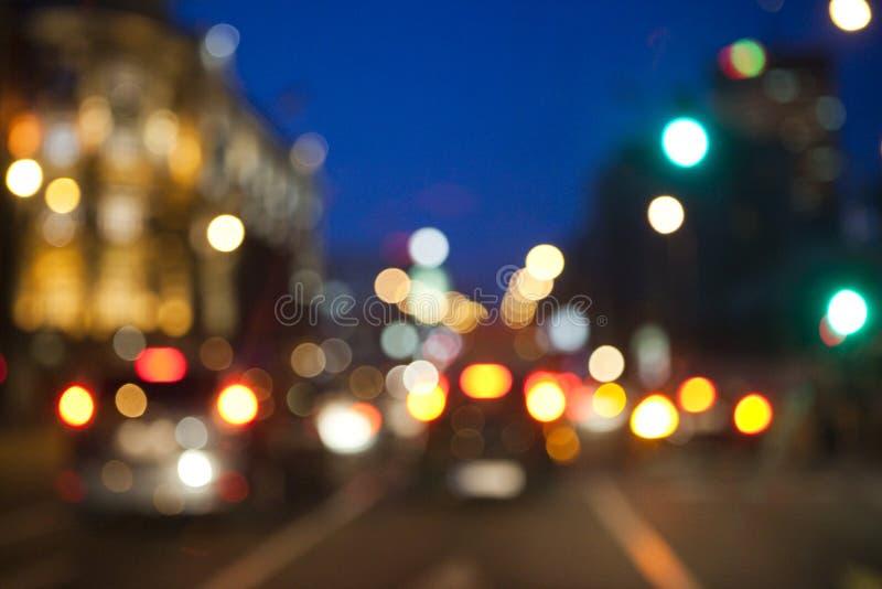 De vage stad steekt achtergrond aan stock fotografie
