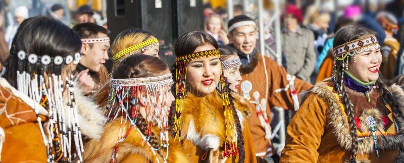 De vakantie inheemse Koryak in Kamchatka was Hololo royalty-vrije stock fotografie