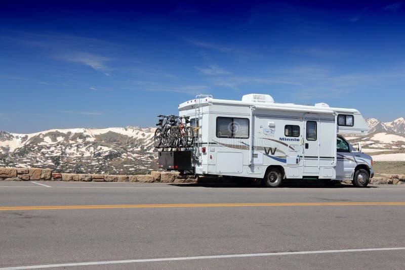 De vakantie van Colorado rv stock fotografie
