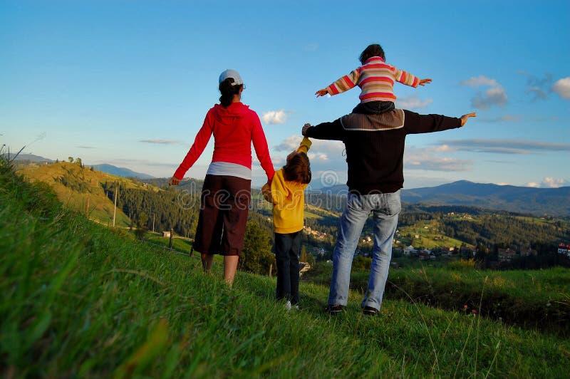De vakantie van de familie royalty-vrije stock fotografie