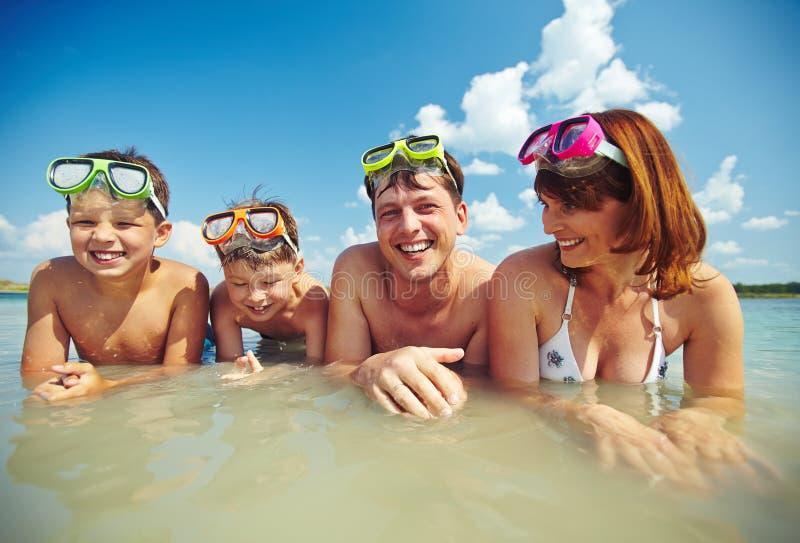 De vakantie van de familie stock afbeelding