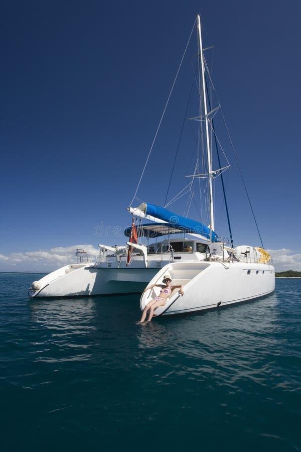 De Vakantie van de luxe - Fiji in de Stille Zuidzee royalty-vrije stock foto
