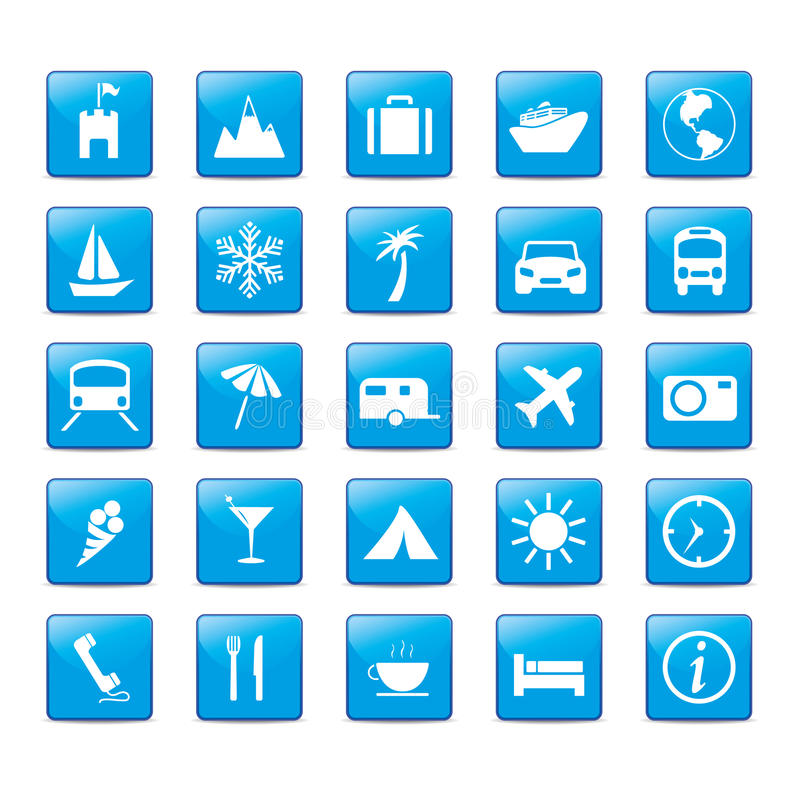De Vakantie van de Reis van Iconset van het pictogram royalty-vrije illustratie